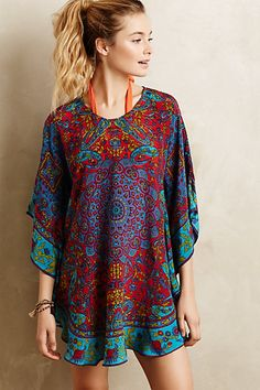 Narissa Silk Caftan #anthropologie