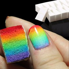 Quantity: 16pcs/lot Material: Sponge Size: Approx 5g Function: For creative diy nail art tools Packing: 8pcs/pack