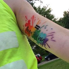 Pin for Later: 38 Gorgeous Gay Pride Tattoos Born This Way