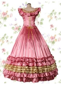 Classic Satin Square Empire Floor-length Ruffles Lolita Dress With Tiers