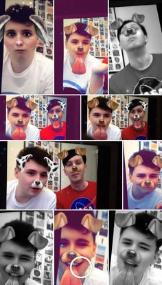 Dan and phil + snapchat filters = adorable