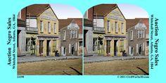 African Amrerican Atlanta Negro Sale Civil War SV Stereoview Stereocard 3D 23350 | eBay