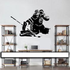 New arrival Hockey Goalie Wall Decal   Wall art vinyl sticker edmonton  player Oilers Cam Talbot 094e2bcb4