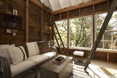 Camp Wandawega, Wisconsin, tree house, living room via if I had a cabin.