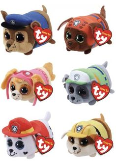 7a3cdd47521 Current 165959  Teeny Ty S Beanie Boos Paw Patrol Plush Stackable Set Of 6  Nwt -