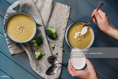 View top-quality stock photos of Delicious Vegetable Cream Soup. Find premium, high-resolution stock photography at Getty Images. Cream Of Vegetable Soup, Cream Soup, Mugs, Vegetables, Tableware, Dinnerware, Cups, Tumbler, Dishes