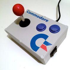 Build your own Commodore 64 arcade stick #Arcade #C64 #Commodore #Joystick #DIY