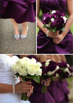 Colorful Wedding Party---Purple Wedding, Part 15 Deep Purple Wedding, Plum Wedding, Floral Wedding, Wedding Colors, Wedding Bouquets, Wedding Flowers, Dream Wedding, Wedding Day, Wedding Things