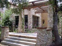 Rear Terrace and Pergola (3) - mediterranean - patio - austin - Rick O'Donnell Architect: