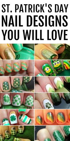 Want to wear a little good luck on St. Get pinch-proof ready with these awesome St. Patrick's Day nails that you will love! Green Nail Designs, Cute Nail Art Designs, Simple Nail Designs, St Patricks Day Nails, Nail Polish Trends, St Paddys Day, Marble Nails, Green Nails, Leprechaun