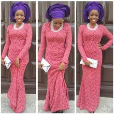 65 Inspiring Cordlace Aso ebi Styles for Beautiful Women - iFashy African Attire, African Wear, African Fashion Dresses, African Women, African Dress, Nigerian Fashion, Ghanaian Fashion, African Outfits, African Beauty
