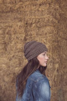 Use bulky yarn in a slip-stitch pattern to create a warm hat that is perfect for any occasion.