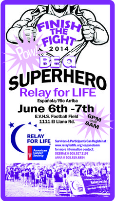 relay for life superhero theme