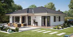 Modern Family House, Modern Bungalow House, Bungalow Exterior, Bungalow House Plans, Dream House Exterior, Bedroom House Plans, House Outside Design, Small House Design, Modern House Design