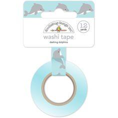 Dashing Dolphins Washi Tape, 15mm x 12 yards by Doodlebug Designs