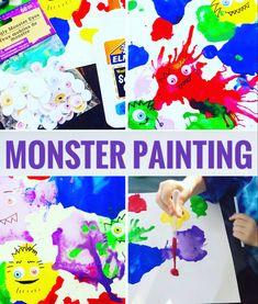 Scary Monsters, A Dime, Paint Drying, Painted Books, Summer Diy, My Favorite Part, Good Books, Activities For Kids, Art Projects