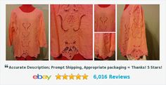 Buy it now! Gorgeous Blouse Size Medium 100% Cotton Light Coral Eyelet Lace Button Back | eBay #blouse