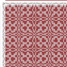 draft image: Threading Draft from Divisional Profile, Tieup: Crackle Design Project, Draft #13287, 4S, 4T