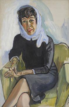 Alice Neel (US 1900-1984),  Vivienne Wechter, oil/canvas, 1965. David Zwirner, NY/London.
