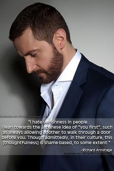 Richard Armitage SO THE WAY I WAS BROUGHT UP (THEY BEFORE I as my gran would say