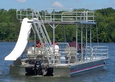 pontoon! Makin waves and catchin rays upon the roof :)