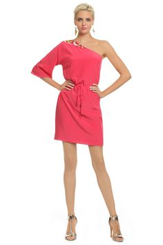 Trina Turk Coral Santa Cruz Sun Dress - perfect for a beach wedding and for simple accessories with pumps or open toed heels