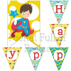 Superhero Theme Birthday Party Pack Package Digital Download Super Hero Cupcake Toppers Banners #PocketFullofPosies Party Hat Favor Box Centerpiece #DIY printables DIY