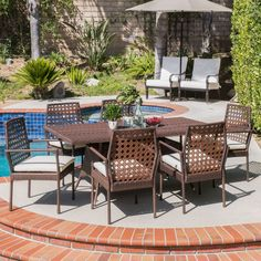 ferndale outdoor multibrown wicker 5pc dining set *** clicking on, Esszimmer dekoo