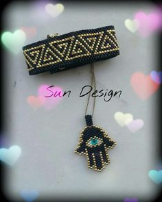 Hamsa Fatma Ananın Eli #miyuki #bracelet #peyote #takı #brick #stitch #hamsa #pattern