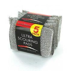5 pk metallic scouring pads