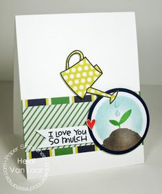 I Love You So Mulch card by Heidi Van Laar for Paper Smooches - Green Thumb stamp set