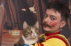Boris the Cat of the World-famous Kuklachyov Cats Theater in Moscow....duh