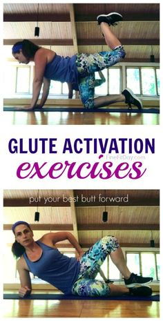 10 Glute Activation Exercises to Keep Your Butt Strong 10 Glute Activation Exercises - create your own glute activating dynamic warmup for your next run or strength training workout. Ab Workout Men, Pilates Workout, No Equipment Workout, Activate Glutes, Glute Activation Exercises, Strength Training Workouts, Lower Abs, Create, Strong