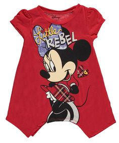 "Minnie Mouse Little Girls' Toddler ""Little Rebel"" T-Shirt - red, 2t"