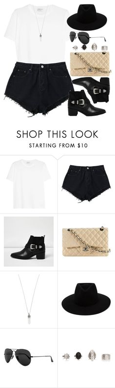 """""""Sin título #12779"""" by vany-alvarado ❤ liked on Polyvore featuring Yves Saint Laurent, River Island, Chanel, Marc Jacobs, rag & bone and Ray-Ban"""
