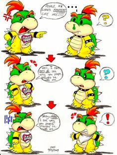 Bowser Jr. and Baby Bowser confusion.