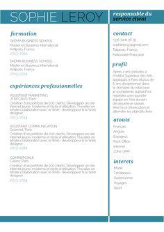Imprudent - Un CV tout en douceur, qui inspire un grand professionnalisme.