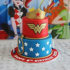 13 Wonder Woman Cakes to Inspire Your Daughter to Be the Strong Girl She Is - Birthdays - Wonder Woman Birthday Cake, Wonder Woman Cake, Wonder Woman Party, Birthday Woman, Dc Superhero Girls Cake, Superhero Birthday Cake, Birthday Cakes For Women, Birthday Cake Girls, 5th Birthday