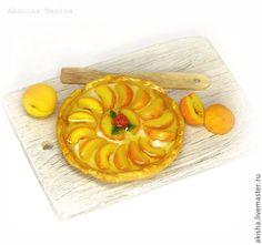 Персиковый пай фруктовый пирог кукольная миниатюра - Чудеса в ладошке (Акинина Марина)