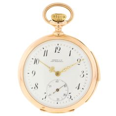 Ulysse Nardin Yellow Gold Minute Repeating Pocket Watch |