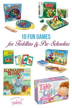 The BEST board games for preschool and toddlers that are also fun for the whole family! Some are educational and others are classic games we all love.  These make great gifts!