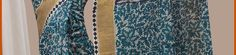 Off White and Blue Bengal Handloom Tant Cotton Saree with Blouse Online Shopping: SQC41
