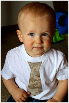Toddler Military Tie Tshirt by LilSparklers on Etsy, $15.00