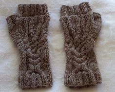 Ravelry: Winter Tree Cable Men's Fingerless Gloves pattern by LoisLeigh Anderson