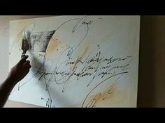 "Abstract painting / ""Untold Stories"" in acrylics / Rustic / Vintage / Demonstration - YouTube"