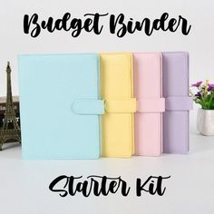 ****************************** This is the budget binder STARTER SET to start your budgeting journey Dave Ramsey Style! This set comes with ONE cute color binder (BLUE, PINK, YELLOW, or PURPLE) & 5 personalized cash envelopes. If you'd like to purchase more envelopes for your binder please purchase Excel Budget, Budget Binder, Budget Planner, Budget Envelopes, Cash Envelopes, Budgeting Tools, Budgeting Finances, Frugal Meals, Frugal Tips