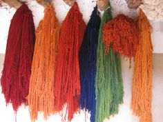 Handspun and natural dyed yarn.