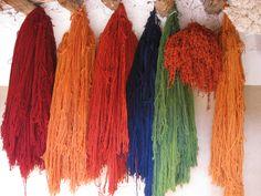 Handspun and natural dyed yarn.