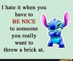 Funny True Quotes, Sarcastic Quotes, Funny Relatable Memes, Funny Texts, Funny Minion Memes, Funny Disney Memes, Disney Quotes, Disney Songs, Lilo And Stitch Memes