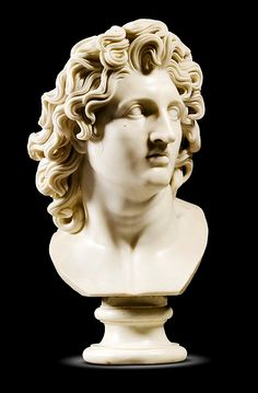 Bust of Alexander the Great.  Marble, c.1800, Italian.